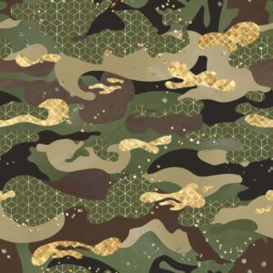Jersey print med camouflage - army
