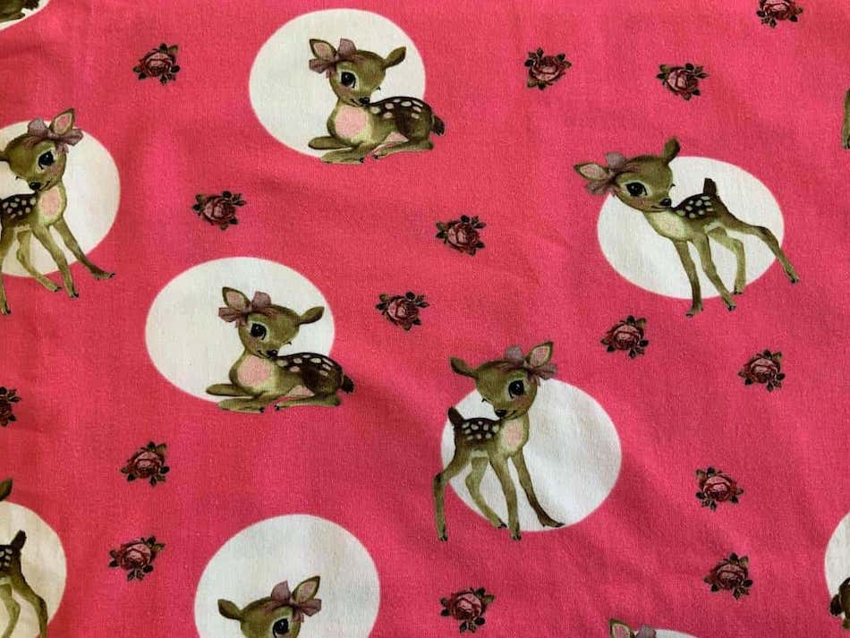 Jersey print med Bambi - pink