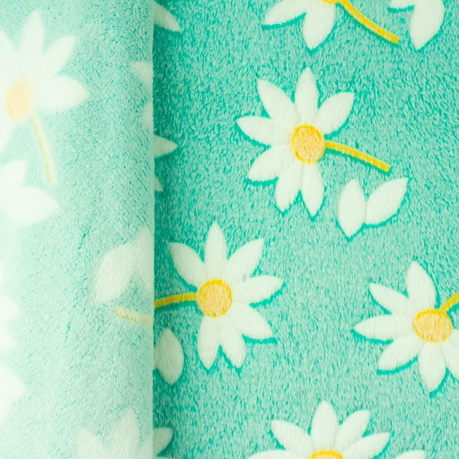 Wellness fleece med margueritter - mint